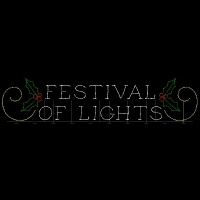 12' x 58' Festival Of Lights<br />Sign with Holly and Scrolls