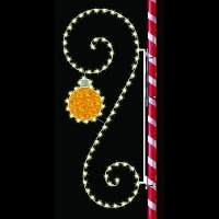 8' Silhouette Scroll with<br />Ornament