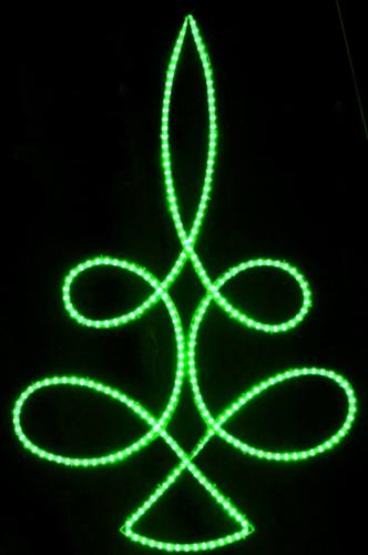 5' LED Rope Light Loop Tree