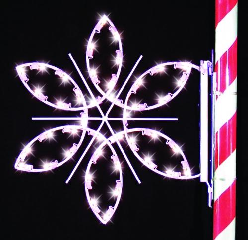 3' Silhouette Fantasy Snowflake