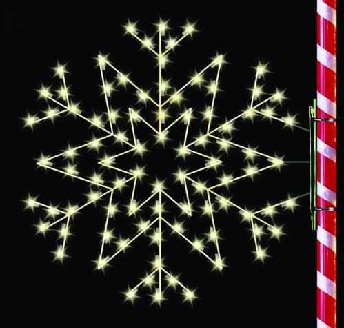 5' Silhouette Arctic Star Snowflake