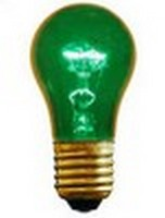 A15 (15W) Party Bulb<br />Transparent Green