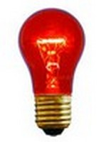 A15 (15W) Party Bulb<br />Transparent Red