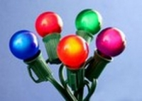 G30, G40, G50 Satin<br />Multicolor Globe Light<br />String Set