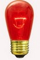 11S14 (11W) Bulb Transparent<br />Red