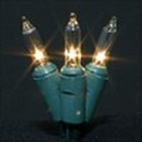 Minilights (green cord,<br />clear bulbs)