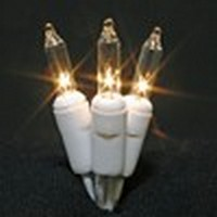 Minilights (white cord,<br />clear bulbs)