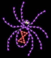 5' Black Widow Shown in Purple