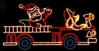 11' x 24' Santa's Fire Truck
