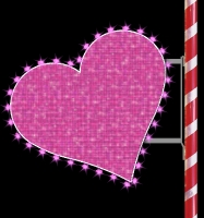 3' Glitter Mesh Heart