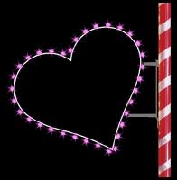 3' Silhouette Heart