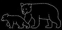 5' x 12' Black Bear Walking