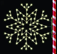 5' Silhouette Arctic Star Snowflake