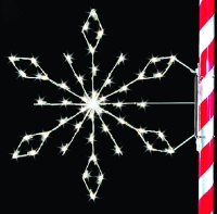 5' Silhouette Crystal Snowflake