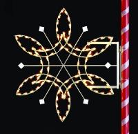 6' Silhouette Fantasy Snowflake